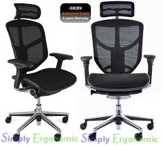 desk chair with headrest enjoy ergonomic high back mesh office chair with head rest from