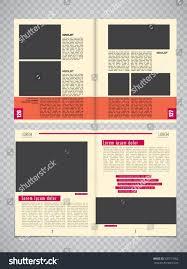 modern magazine layout template vector stock vector 530711962