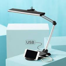 flynn led desk lamp with usb port and phone cradle 1h408