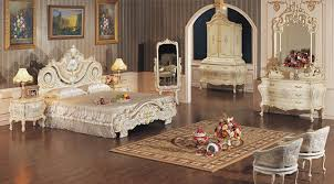 distinguished classic european antique white canopy bed with