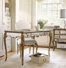 nice mirrored office desk on luxury home interior designing with