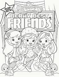 strawberry shortcake berry best friends dvd coloring sheet