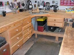 Easy Wood Workbench Plans furniture 20 top models garage workbench plans with drawers diy