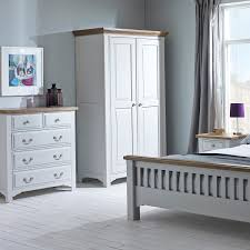 White Bedroom Wardrobes Uk Hutch Buxton Light Grey Painted Bedroom Set With Triple Wardrobe