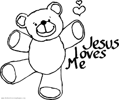jesus loves you coloring page free download