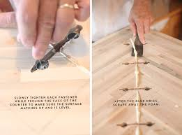 How To Install Butcher Block Countertops by Countertop Joint Fasteners Bstcountertops