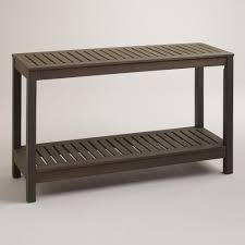 Patio Furniture World Market by Laguna Outdoor Console Table World Market With Baskets