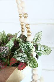 Diy Hanging Planter by Beaded Plant Hanger