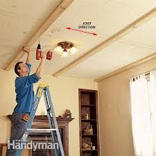 How To Plumb A House by Ceiling Panels How To Install A Beam And Panel Ceiling Ceiling