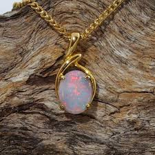 opal necklace silver images Gold plated silver opal necklace pendant black star opal jpg
