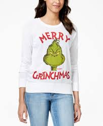 hybrid juniors u0027 grinch graphic pullover sweater christmas to do
