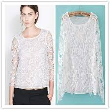 crochet blouses buy white crochet blouse lace top at lestyleparfait