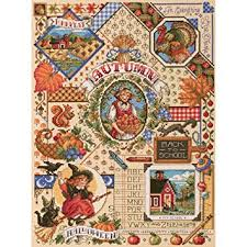 janlynn autumn sler counted cross stitch kit