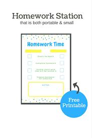 diy portable homework station using a binder and printable checklist