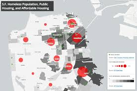 San Francisco Districts Map by Mapping Homelessness And Affordable Housing In San Francisco