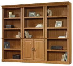 Honey Oak Bookcase Sauder Orchard Hills Wall Bookcase In Carolina Oak Finish