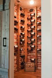 corner wine rack wine cellar transitional with none