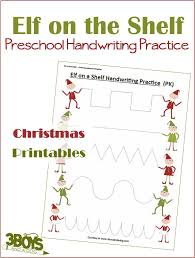 elf on the shelf handwriting worksheets for kids u2013 3 boys and a dog