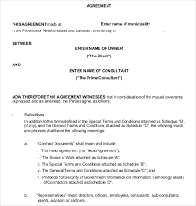 business contract templates u2013 10 free word pdf documents