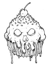 evil cupcake by munkeydmetal watch traditional art drawings