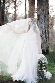 bridal veil blusher sheer soft tulle cathedral bridal veil in ivory