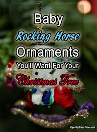 baby rocking ornaments for trees it s time
