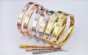 titanium steel love bracelet images Love bracelet screwdriver 5 sizes trumpet jewels png