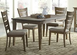 liberty furniture pebble creek 7 piece dining set with ladder back