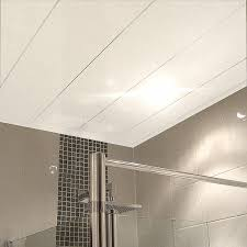 labo ultra white gloss ceiling panels from the bathroom marquee