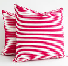 Red Bed Cushions Pink Cotton Pillows Pink Throw Decorative Pillow Pink Throw
