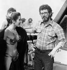 nude carrie fisher carrie fisher and george lucas on set of return of the jedi