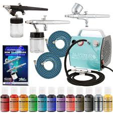 amazon com bakery airbrush cake kit with 3 airbrushes compressor