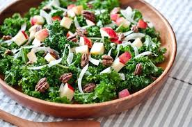 kale salad with apples fennel and candied pecans recipe kale