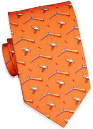 look great in a turkey woven tie in orange by blair gobble