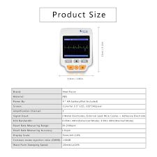 heal force medical portable ecg ekg monitor machine 3 channel