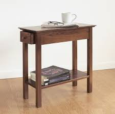 Chair Side Table Chairside Drawer Table Hardwood Slender End Table Manchester Wood