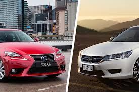 lexus is diesel vs petrol lexus is300h luxury v honda accord sport hybrid comparison review