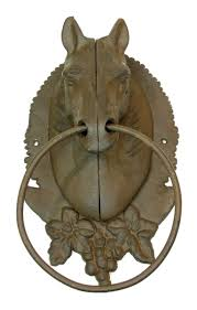 antique animal ring holder images Cast iron hooks and hangers cast iron horse towel ring holder jpg