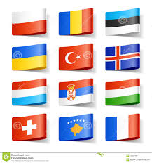 Flags Of The Wrld World Flags Europe Stock Vector Image Of Ribbon Patriot 23800488