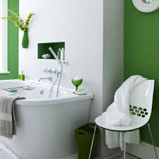 interior decoration retro green fresh modern bathroom interior