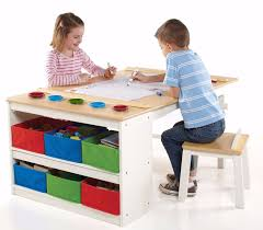 Kids Table And Chairs With Storage Activity Table Kids And Chairs Storage Drawers Children Art Wood