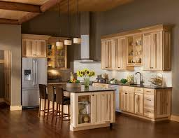 hickory cabinets kitchen beautiful kitchen color schemes with hickory cabinets 33 for with