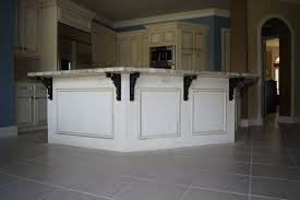 kitchen island with corbels striking kitchen island metal corbels with matte black finish