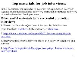80 promotion interview questions and answers