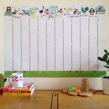 Wall Calendar Organizer Large 2017 Wall Planner Birdy Family Wall Planner A1 Wall