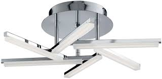 chrome flush mount light solexa polished chrome 6 arm led flush mount ceiling light 9006 6cc