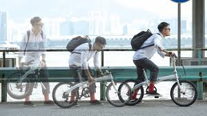 ease of use of folding bicycles varied ride carefully to avoid