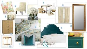 Teal And Gold Bedroom by Update On Daughter U0027s Master Bedroom Georgia U0026 Daughter