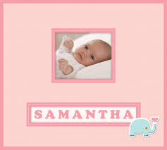baby girl photo album k and company lion sleeps collection frame a name 12 x 12