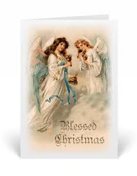 blessed angel vintage christmas card 36060 harrison greetings